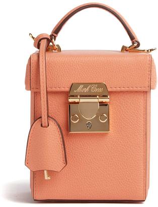 Mark Cross Grace Cube Leather Top Handle Bag
