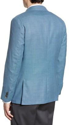 Hickey Freeman Global Guardian Classic Fit Solid Wool Sport Coat