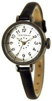 Tokyobay Tokyo Bay T2033-BK Women's Mabel Stainless Steel Black Leather Dial Watch