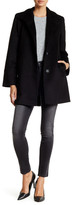 Fleurette Stand Collar Wool Blend Car Coat