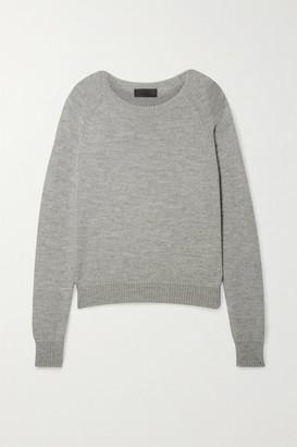 Nili Lotan Vesey Merino Wool And Alpaca-blend Sweater - Gray