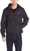 U.S. Polo Assn. Men's Mock-Neck Polar Fleece Lined Jacket with Polyurethane Piping