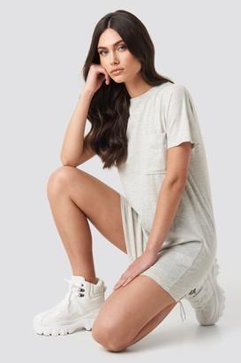 NA-KD Chest Pocket T-shirt Dress Black