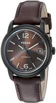 Fossil FSW1007 Swiss FS-5 Series Three-Hand Date Leather Watch - Chocolate