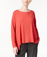 Eileen Fisher Jersey High-Low Boxy Top