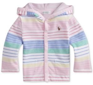Polo Ralph Lauren Ralph Lauren Baby Girls Striped Cotton Hooded Jacket