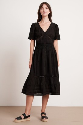 Velvet by Graham & Spencer Suri Cotton Lace Button-Up Dress