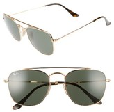 Ray-Ban Men's 54Mm Square Sunglasses - Gold/green