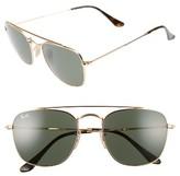 Ray-Ban Men's 54Mm Square Sunglasses - Gold/green