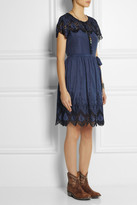 Collette Dinnigan Collette by Ibiza embroidered cotton and silk-blend dress