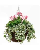 Fashion World Artificial Plant Geranium Basket