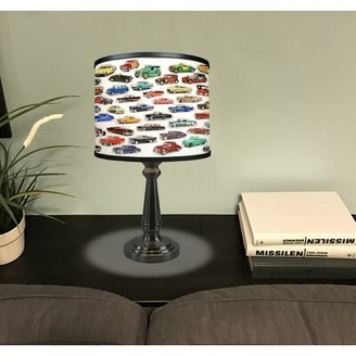 "Latitude Run Screven Car Collage 18.5"" Table Lamp"