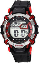 JCPenney Armitron Mens Black Resin Strap Chronograph Watch 40/8312RED