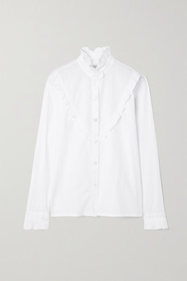 Nili Lotan Marcela Ruffled Cotton-poplin Shirt - White