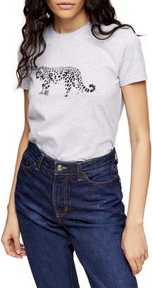 Topshop Snow Leopard Print Tee