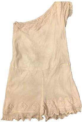 Bel Air White Cotton Jumpsuit for Women