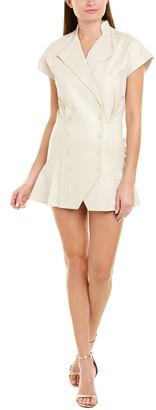 retrofete Lina Leather Mini Dress