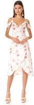 MinkPink Innocence Wrap Midi Dress