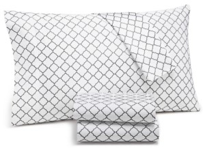 Charter Club Damask Designs Arabesque Geo 4-Pc. Queen Sheet Set, 550-Thread Count Supima Cotton Created for Macy's Bedding
