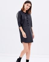 Maison Scotch Soft Leather Tunic Dress