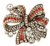 Heidi Daus Bow Crystal-Embellished Pin