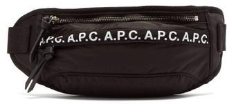 A.P.C. Camden Logo-trim Nylon Cross-body Bag - Black
