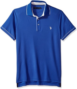 U.S. Polo Assn. Men's Short Sleeve Classic Fit Solid Poly Polo Shirt