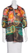 M Missoni Sheer Printed Blouse