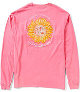 Southern Fried Cotton Men's Sunflower Graphic Long-Sleeve Pocket Tee