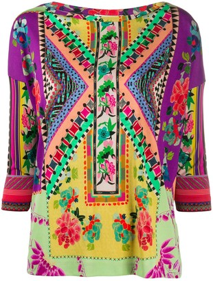 Etro Patchwork Print Top
