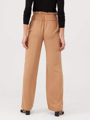 Very Buckle Front Paperbag Waist Trouser - Camel