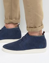Fred Perry Shields Mid Suede Trainers