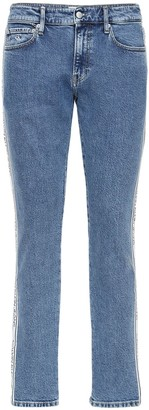 Calvin Klein Jeans 17cm Logo Tape Slim Cotton Denim Jeans