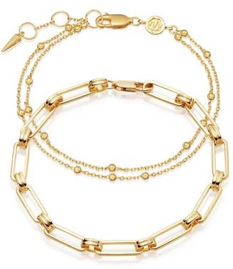Missoma Gold Aegis Double Chain Bracelet Set