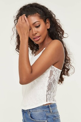 Ardene Cropped Halter Lace Tank Top