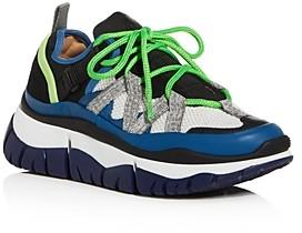 Chloé Women's Blake Mixed Media Low-Top Platform Sneakers