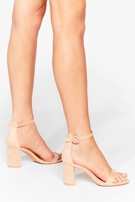 Nasty Gal Womens Faux Suede for You Strappy Block Heels - Beige - 3