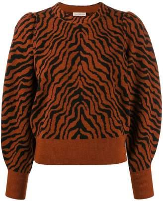 Ulla Johnson tiger stripe knit jumper