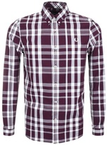 Fred Perry Fred PerryTwo Colour Check Shirt Red