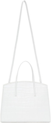 Little Liffner White Croc Mini Minimal Bag