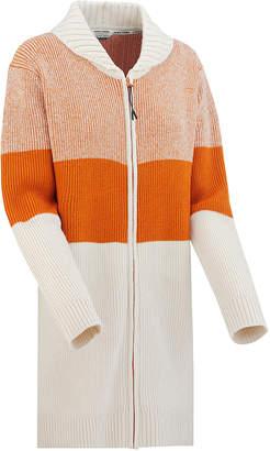 BEIGE Kari Traa Women's Non-Denim Casual Jackets RUST - Rust & Color-Block Zip-Up Sweater - Women
