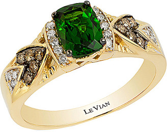 LeVian Le Vian 14K 0.98 Ct. Tw. Diamond & Chrome Diopside Ring