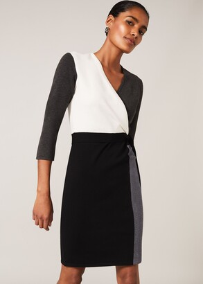 Phase Eight Bibi Colourblock Wrap Dress