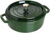Staub Cast Iron Shallow Wide Round Cocotte - Basil - 4 QT