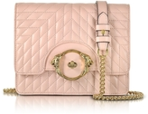 Roberto Cavalli Star Blush Quilted Nappa Leather Shoulder Bag