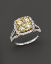 Bloomingdale's Yellow and White Diamond Ring in 14K White and Yellow Gold