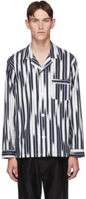 Blue Blue Japan Navy and White Striped Rainfall Shirt