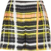 River Island Womens Yellow checked shorts