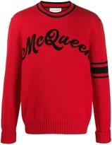 Alexander McQueen intarsia logo jumper