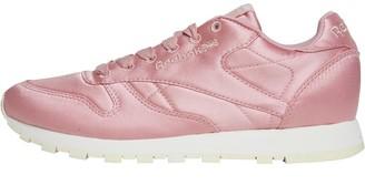 Reebok Classics Womens Leather Satin Trainers Chalk Pink/Classic White